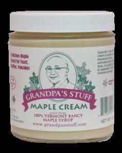 Grandpa S Stuff Maple Cream 10oz Vermont Roots