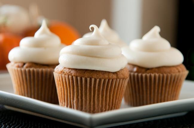 pumpkin spice latte cupcakes | vermont roots