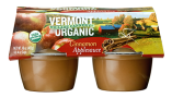 Vermont Village Cannery 4 Pack Organic Cinnamon Applesauce Cups