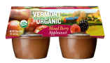 Vermont Village Cannery 4 Pack Organic Mixed Berry Applesauce Cups
