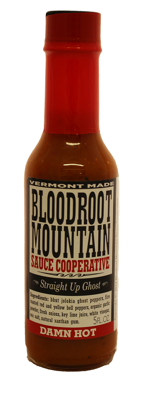 Bloodroot Mountain Straight Up Ghost Hot Sauce