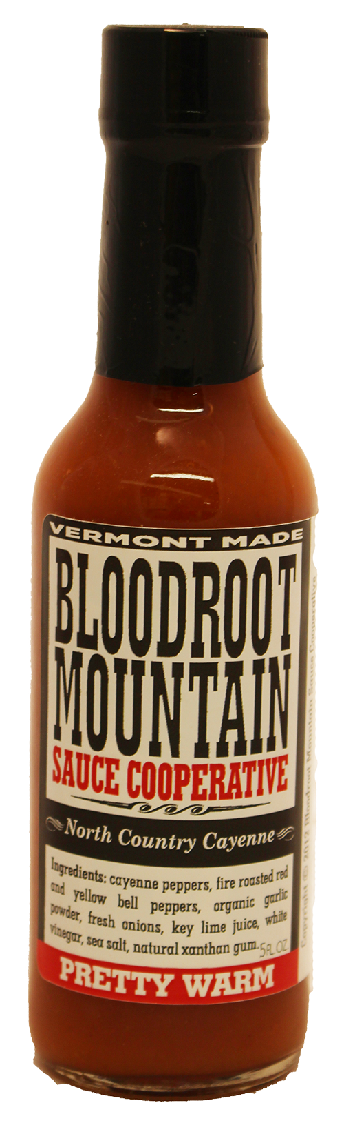 Bloodroot Mountain North Country Cayenne Hot Sauce