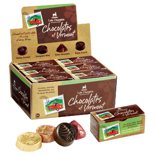 Lake Champlain Chocolate 4pc Boxed Chocolates of VT/12case