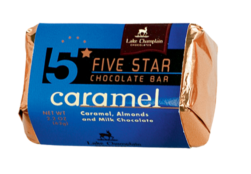Lake Champlain Chocolate 5 Star Carmel Bar -16/case