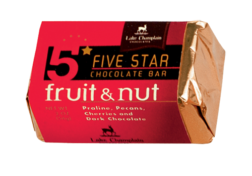 Lake Champlain Chocolate 5 Star Fruit & Nut  - 16/case