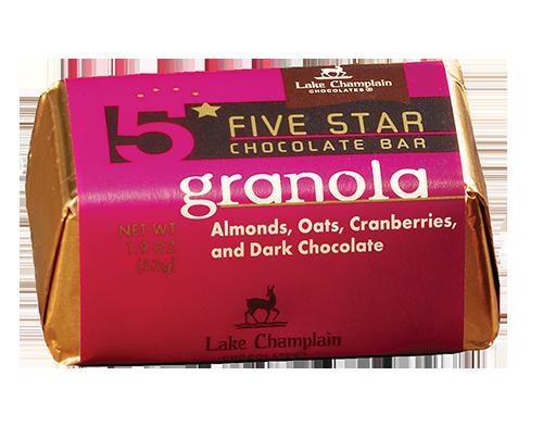 Lake Champlain Chocolate 5 Star Granola Bar - 16/case