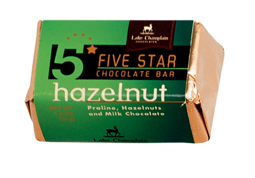 Lake Champlain Chocolate 5 Star Hazelnut Bar -  16/case