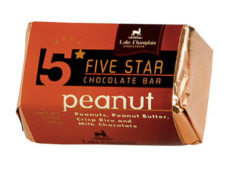 Lake Champlain Chocolate 5 Star Peanut Bar   - 16/case