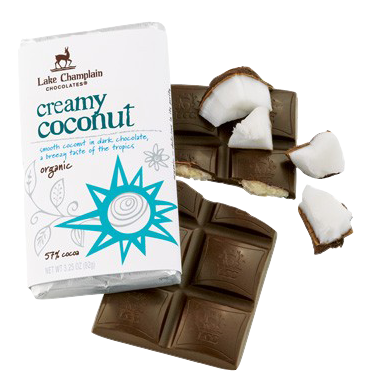 Lake Champlain Chocolate Organic Coconut Filled Bar - 10/case