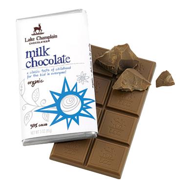 Lake Champlain Chocolate Org Milk Bar - 12/case
