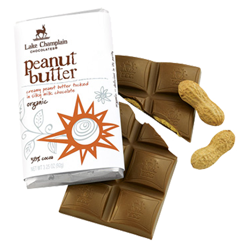 Lake Champlain Chocolate Organic Peanut Butter Bar - 10/case