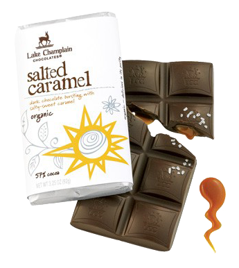 Lake Champlain Chocolate Organic Salted Caramel Filled Bar - 10/case