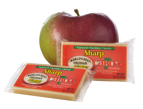 Cabot Cheese Midgets Sharp  - 50 / Box.