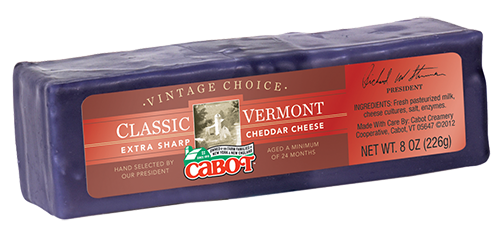Cabot Cheese Vintage Choice  Purple Wax Cheddar #286