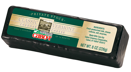 Cabot Cheese Private Stock Black Wax Cheddar