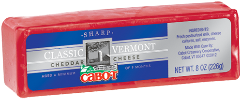 Cabot Cheese Sharp Red Wax Cheddar