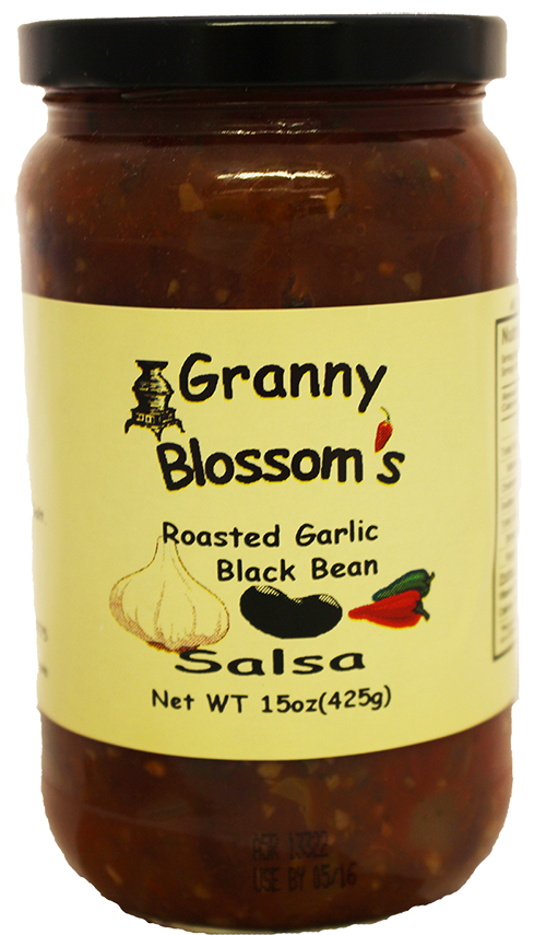 Granny Blossom's Roasted Garlic & Black Bean Salsa