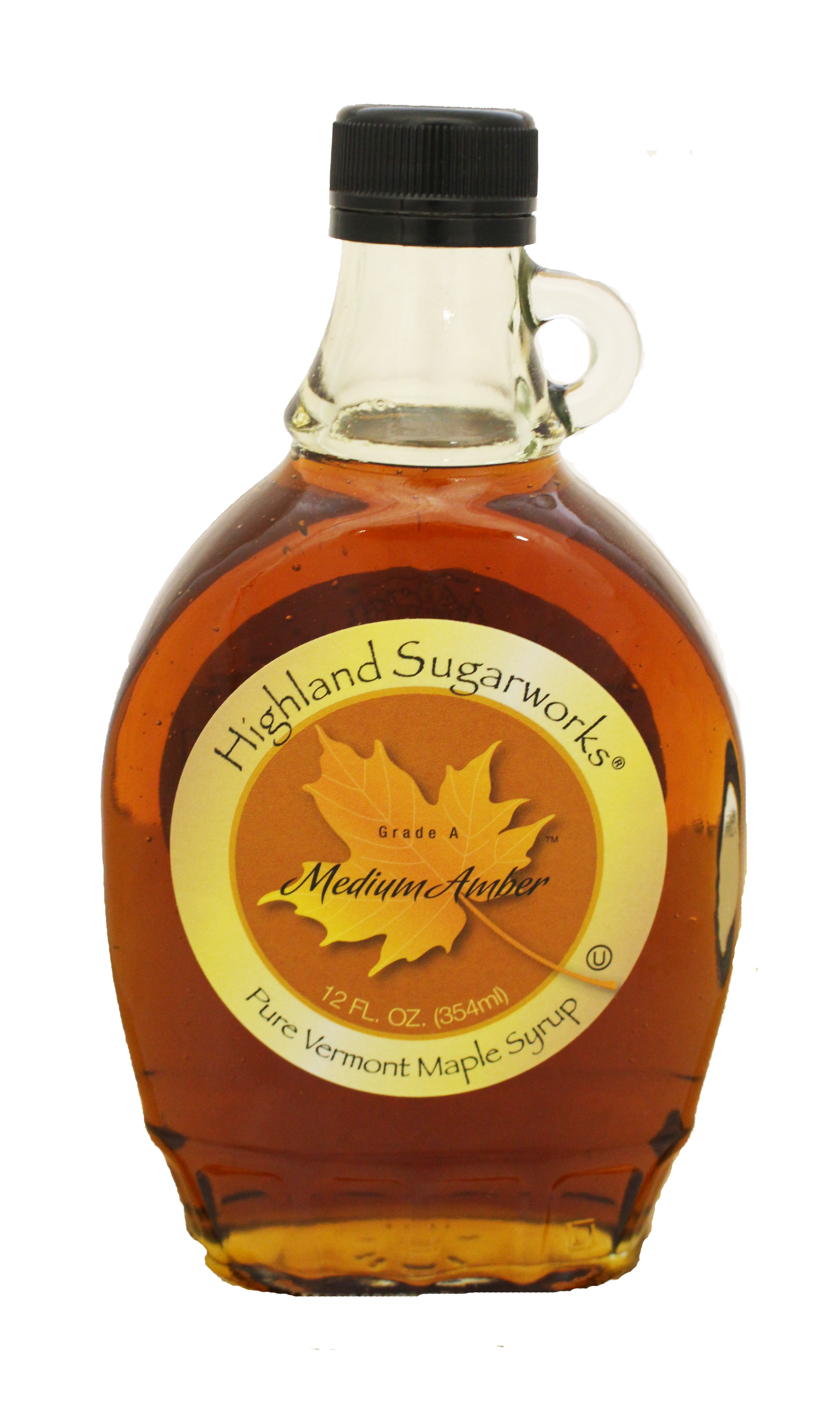 020a56b4f09 Highland Sugarworks Maple Glass Bottle Medium with Handle 12oz ...