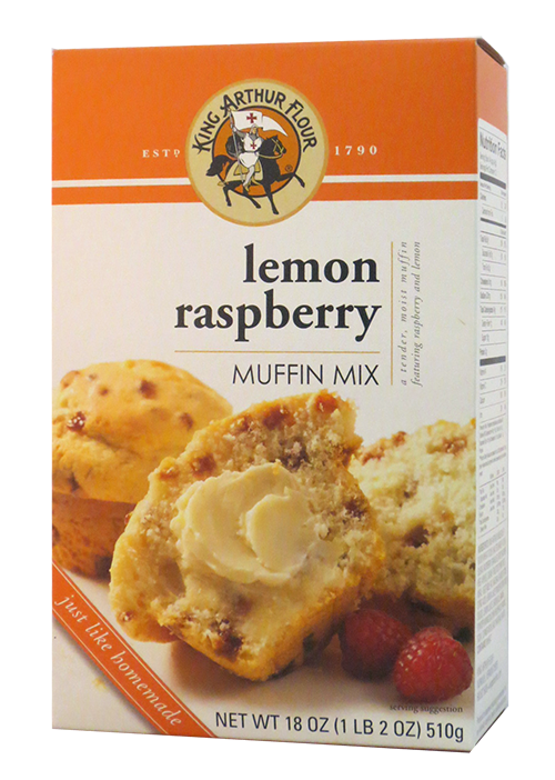 King Arthur Flour Lemon Raspberry Muffin Mix