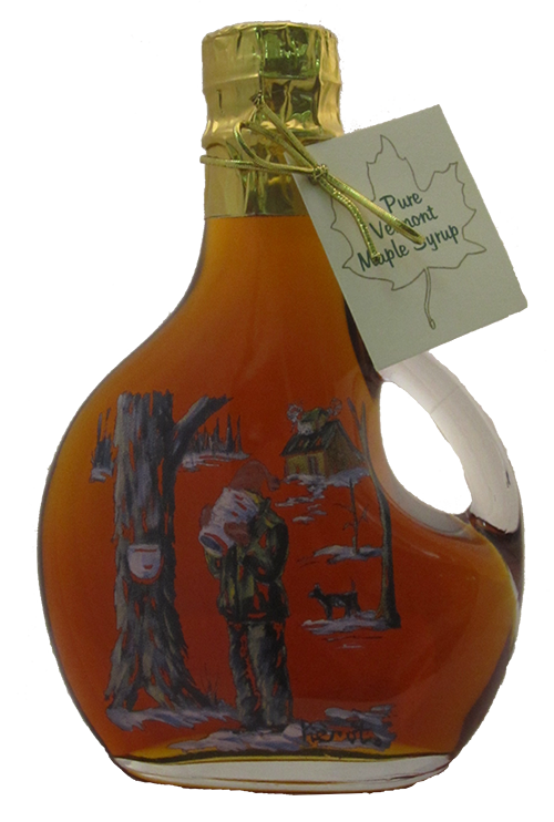 Northeast Maple Boy Tasting Sap Painted Bottle