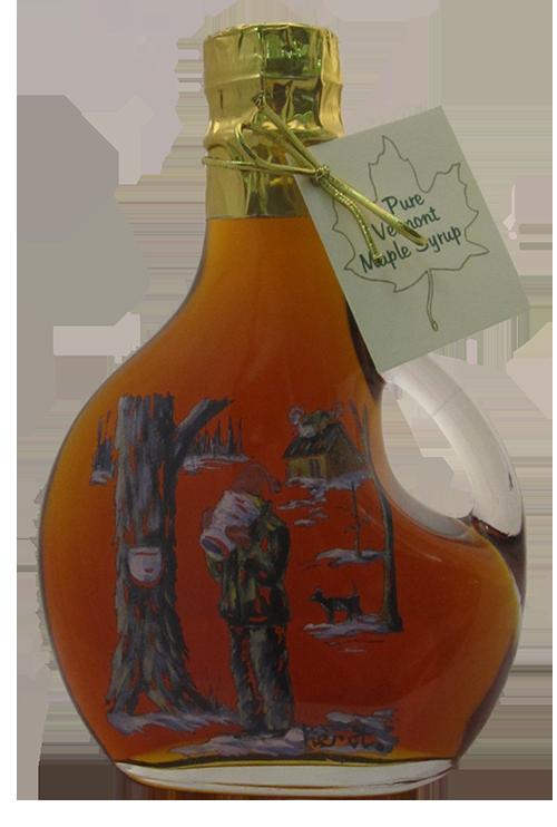 Northeast Maple Boy Tasting Sap Painted Bottle