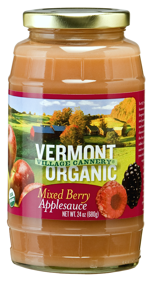 Vermont Village Cannery Organic Mixed Berry Applesauce