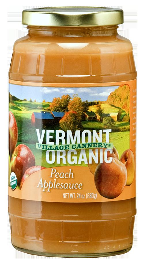 Vermont Village Cannery Organic Peach Applesauce