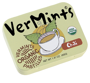 Vermints Chai Mint Green Tin