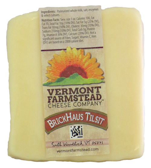 Vermont Farmstead Cheese Brickhaus Tilsit